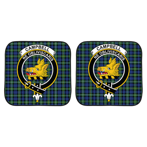 Campbell Argyll Ancient Clan Crest Tartan Scotland Car Sun Shade 2pcs K7
