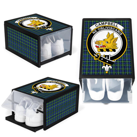 Campbell Argyll Ancient Clan Crest Tartan Scottish Shoe Organizers K9