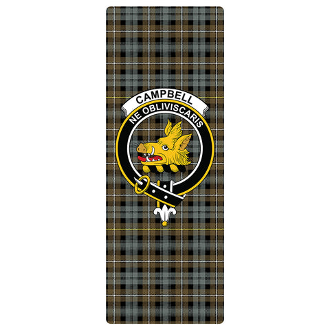 Campbell Argyll Weathered Clan Crest Tartan Yoga mats