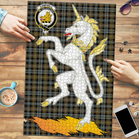 Campbell Argyll Weathered Clan Crest Tartan Unicorn Scotland Jigsaw Puzzle