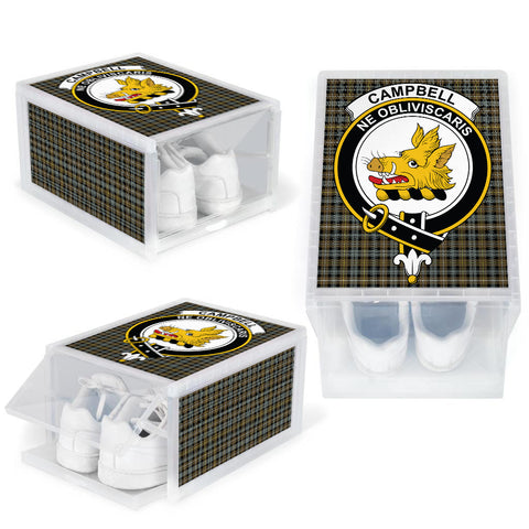 Campbell Argyll Weathered Clan Crest Tartan Scottish Shoe Organizers K9