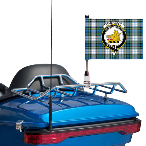 Campbell Dress Ancient Clan Crest Tartan Motorcycle Flag