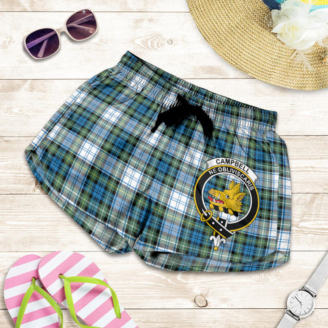 Image of Campbell Dress Ancient crest Tartan Shorts For Women
