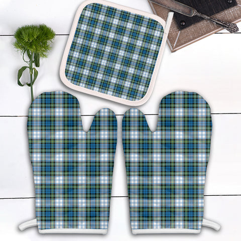 Image of Campbell Dress Ancient Clan Tartan Scotland Oven Mitt And Pot-Holder (Set Of Two)