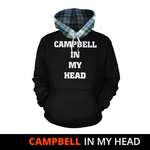Image of Campbell Dress Ancient In My Head Hoodie Tartan Scotland K9