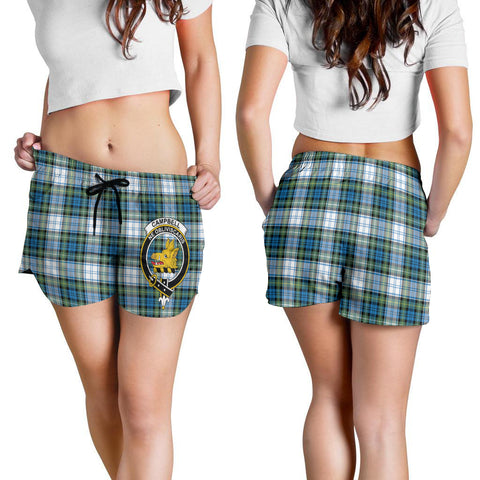 Image of Campbell Dress Ancient Crest Tartan Shorts For Women K7