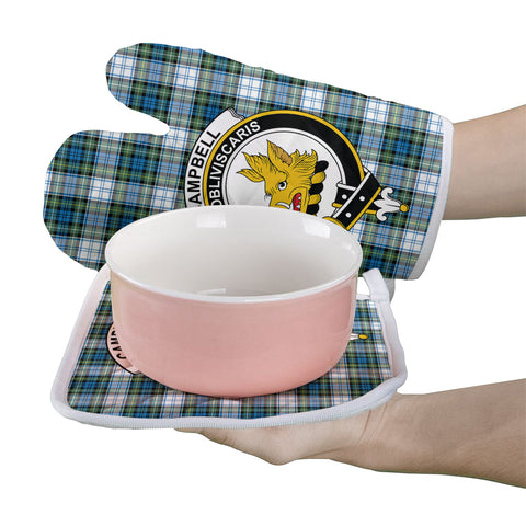 Image of Campbell Dress Ancient Clan Crest Tartan Scotland Oven Mitt And Pot-Holder (Set Of Two)
