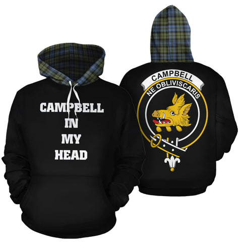 Image of Campbell Faded In My Head Hoodie Tartan Scotland K9