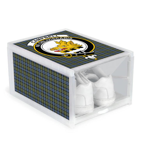 Campbell Faded Clan Crest Tartan Scottish Shoe Organizers
