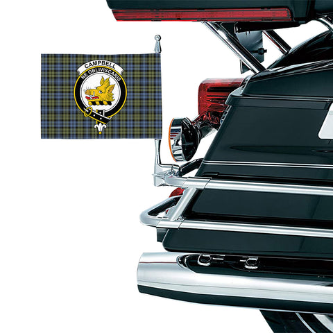 Image of Campbell Faded Clan Crest Tartan Motorcycle Flag