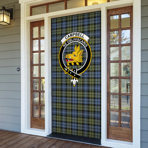 Campbell Faded Tartan Door Sock Cover