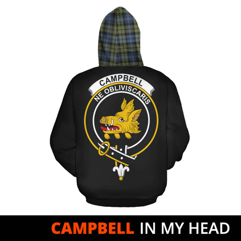 Campbell Faded In My Head Hoodie Tartan Scotland K9