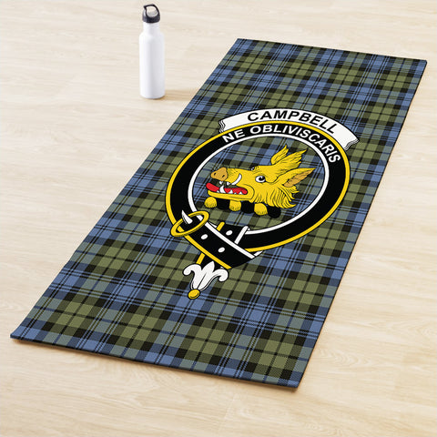 Campbell Faded Clan Crest Tartan Yoga mats