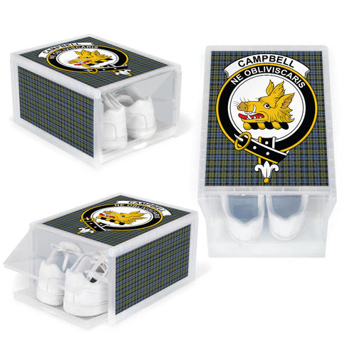 Campbell Faded Clan Crest Tartan Scottish Shoe Organizers K9