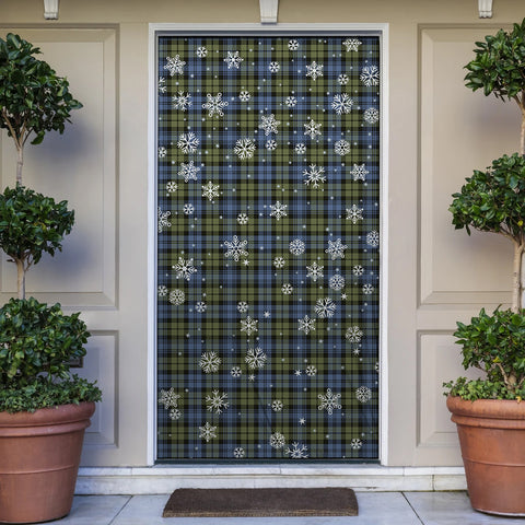 Campbell Faded Christmas Tartan Door Sock Cover