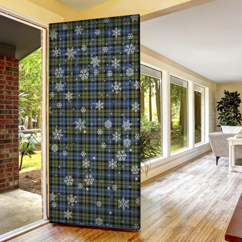 Image of Campbell Faded Christmas Tartan Door Sock Cover