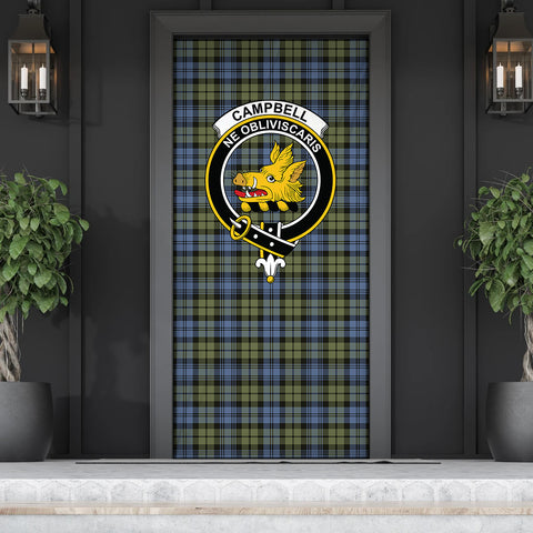 Image of Campbell Faded Tartan Door Sock Cover