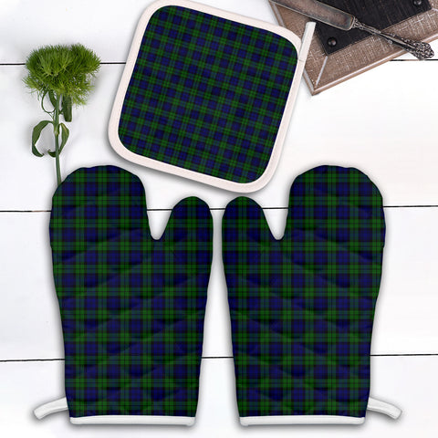 Image of Campbell Modern Clan Tartan Scotland Oven Mitt And Pot-Holder (Set Of Two)