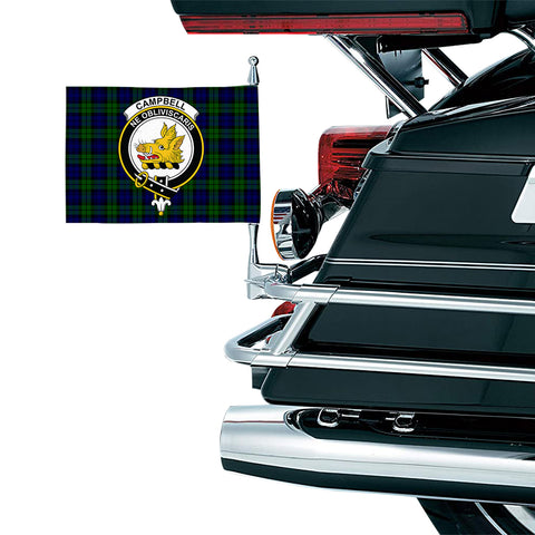 Image of Campbell Modern Clan Crest Tartan Motorcycle Flag
