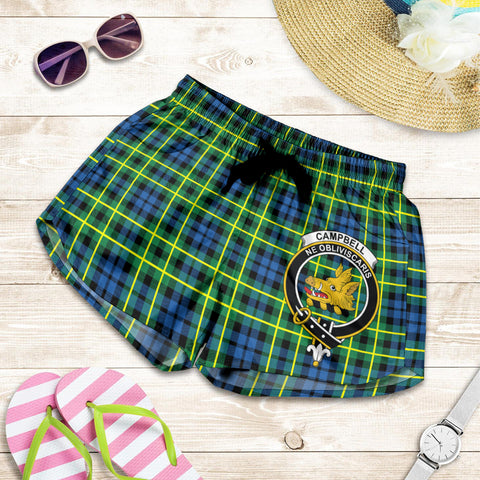 Campbell of Breadalbane Ancient crest Tartan Shorts For Women