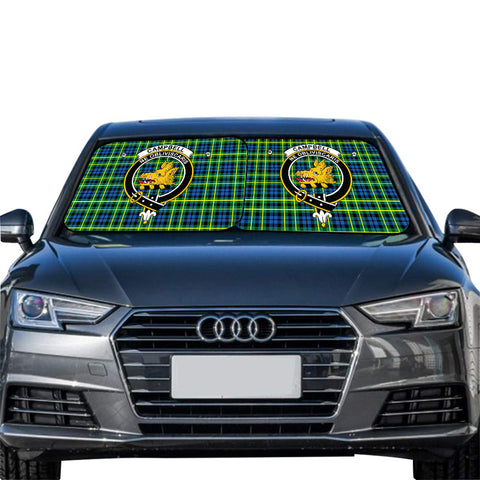 Image of Campbell of Breadalbane Ancient Clan Crest Tartan Scotland Car Sun Shade 2pcs