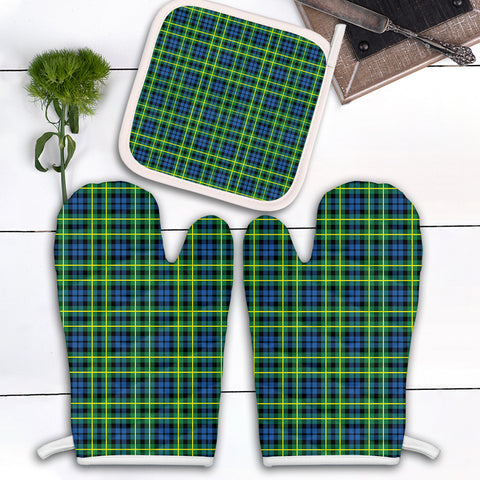 Image of Campbell of Breadalbane Ancient Clan Tartan Scotland Oven Mitt And Pot-Holder (Set Of Two)