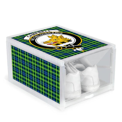 Image of Campbell of Breadalbane Ancient Clan Crest Tartan Scottish Shoe Organizers