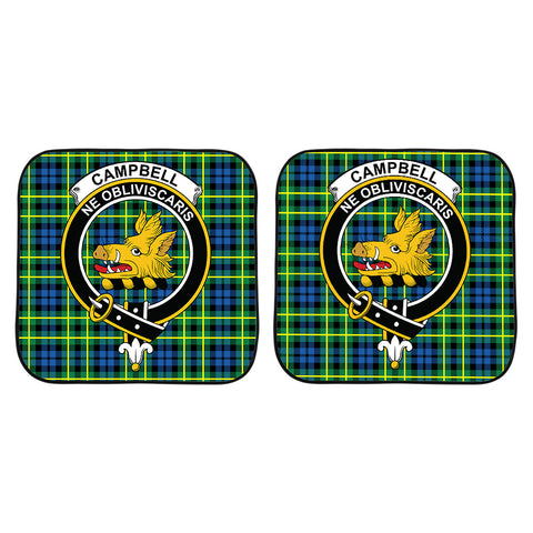 Image of Campbell of Breadalbane Ancient Clan Crest Tartan Scotland Car Sun Shade 2pcs K7