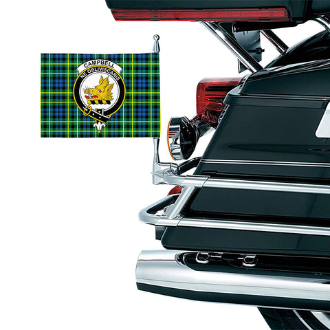 Campbell of Breadalbane Ancient Clan Crest Tartan Motorcycle Flag