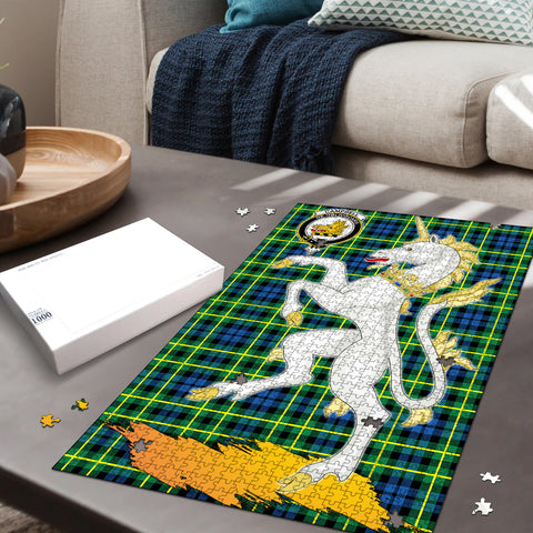 Image of Campbell of Breadalbane Ancient Clan Crest Tartan Unicorn Scotland Jigsaw Puzzle