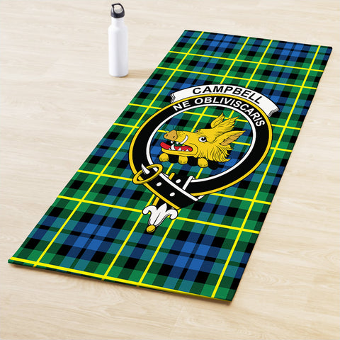 Image of Campbell of Breadalbane Ancient Clan Crest Tartan Yoga mats