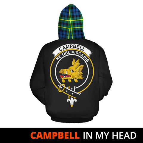 Image of Campbell of Breadalbane Ancient In My Head Hoodie Tartan Scotland K9
