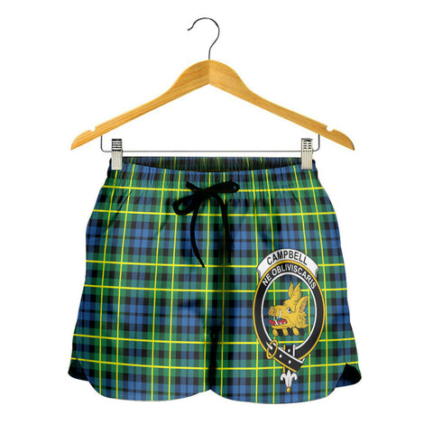 Campbell of Breadalbane Ancient Crest Tartan Shorts For Women K7