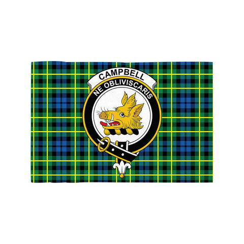 Image of Campbell of Breadalbane Ancient Clan Crest Tartan Motorcycle Flag