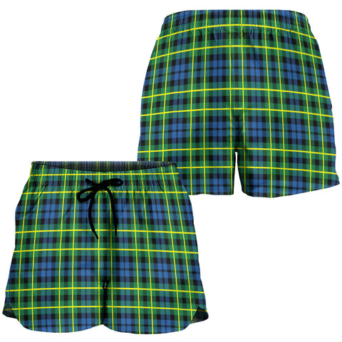 Image of Campbell of Breadalbane Ancient Crest Tartan Shorts For Women K7