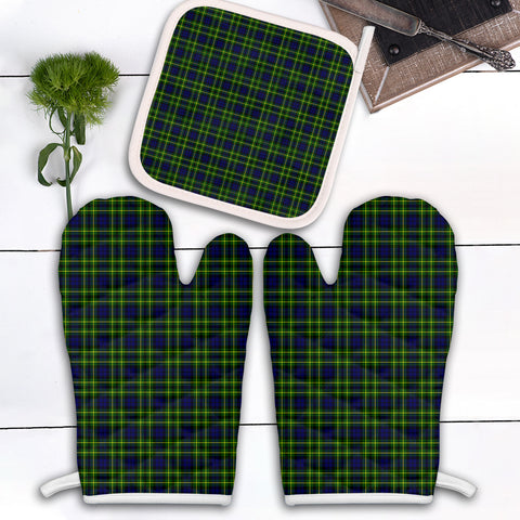 Image of Campbell of Breadalbane Modern Clan Tartan Scotland Oven Mitt And Pot-Holder (Set Of Two)