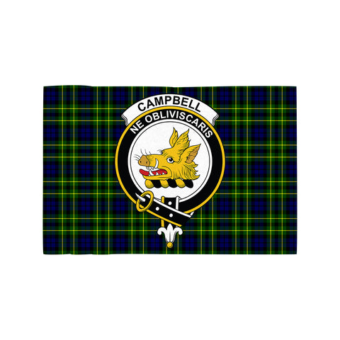 Image of Campbell of Breadalbane Modern Clan Crest Tartan Motorcycle Flag