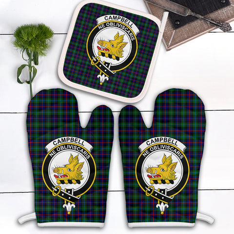 Image of Campbell of Cawdor Modern Clan Crest Tartan Scotland Oven Mitt And Pot-Holder (Set Of Two)