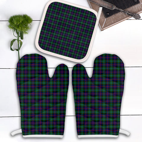 Image of Campbell of Cawdor Modern Clan Tartan Scotland Oven Mitt And Pot-Holder (Set Of Two)