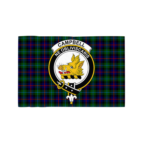 Campbell of Cawdor Modern Clan Crest Tartan Motorcycle Flag