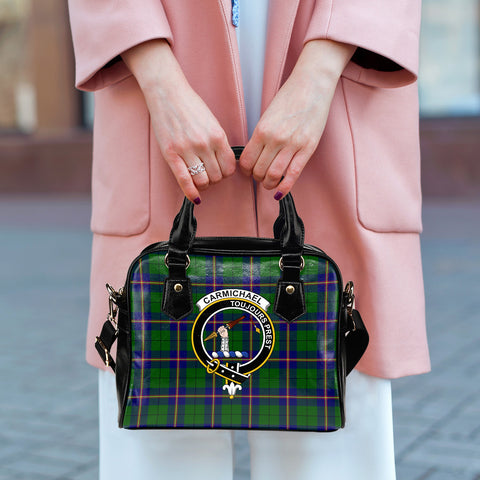 Carmichael Modern Tartan Clan Shoulder Handbag | Special Custom Design
