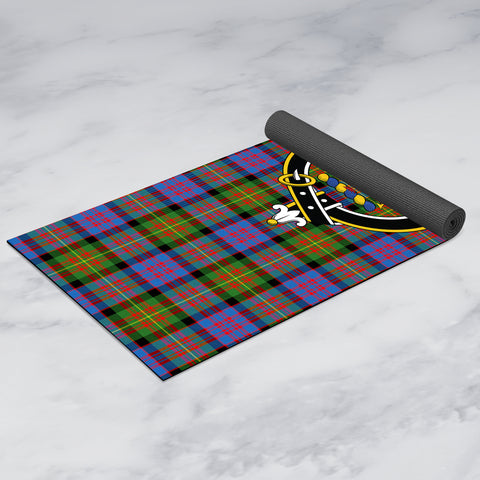 Image of Carnegie Ancient Clan Crest Tartan Yoga mats