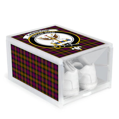 Image of Carnegie Modern Clan Crest Tartan Scottish Shoe Organizers
