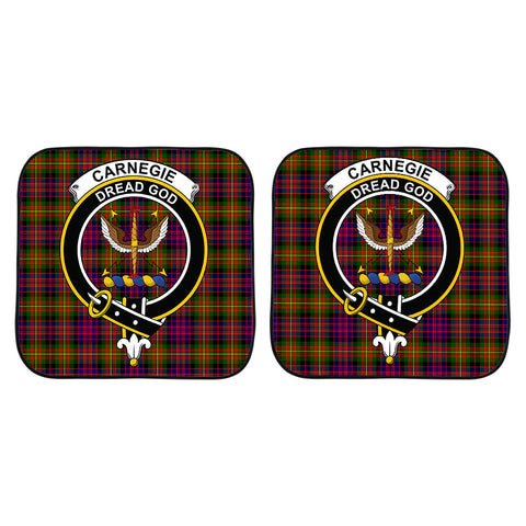 Image of Carnegie Modern Clan Crest Tartan Scotland Car Sun Shade 2pcs K7
