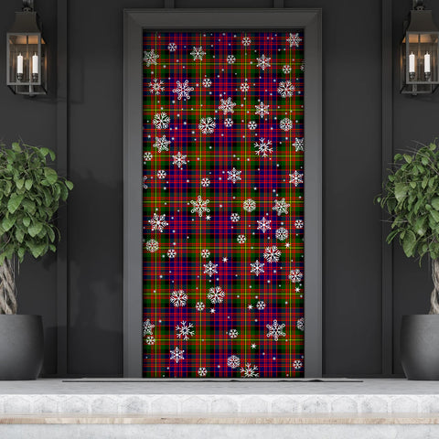 Carnegie Modern Christmas Tartan Door Sock Cover
