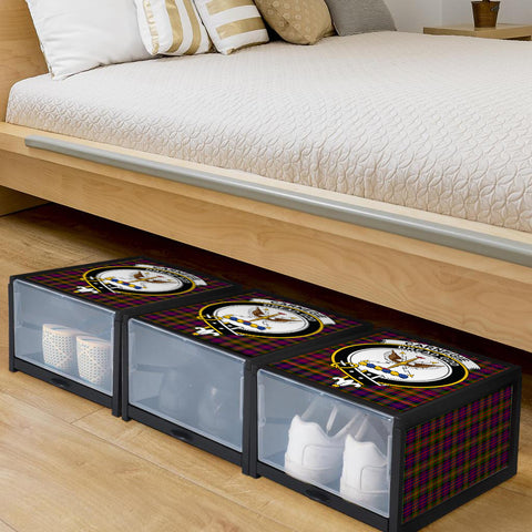 Image of Carnegie Modern Clan Crest Tartan Scottish Shoe Organizers K9
