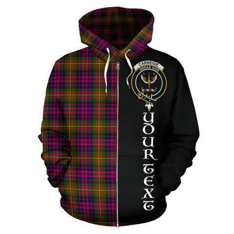 (Custom your text) Carnegie Modern Tartan Hoodie Half Of Me TH8