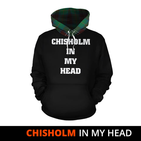 Chisholm Hunting Ancient In My Head Hoodie Tartan Scotland K9