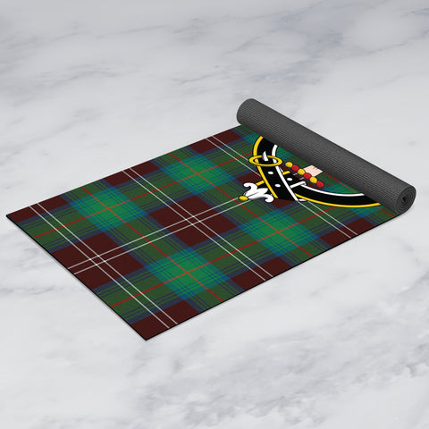 Chisholm Hunting Ancient Clan Crest Tartan Yoga mats
