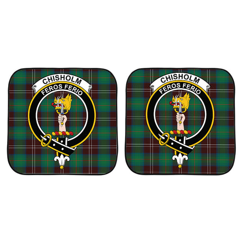 Chisholm Hunting Ancient Clan Crest Tartan Scotland Car Sun Shade 2pcs K7